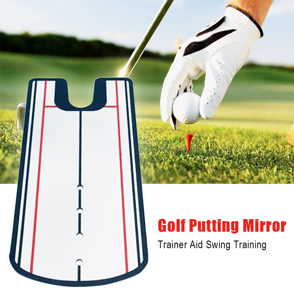 Tool Anti Slip Portable Golf Putting Mirror Alignment Practice Swing Accessories Training Eyeline Outdoor Beginners Trainer Aid|Golf Training Aids| |  - title=