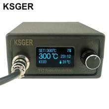 KSGER STM32 OLED V2.1S T12 납땜 스테이션 DIY 키트 디지털 온도 컨트롤러 전자 용접 납땜 인두 팁