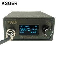 KSGER STM32 OLED V2.1S T12 محطة لحام لتقوم بها بنفسك أطقم رقمية متحكم في درجة الحرارة الإلكترونية لحام سبيكة لحام نصائح