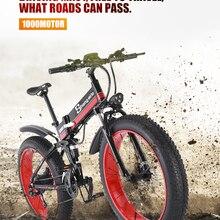 Электрический велосипед, снежный велосипед, толстая шина, 26 дюймов, мотоцикл, e велосипед, 1000 Вт, 48 В, электрический складной велосипед sheng milo, горный велосипед для взрослых