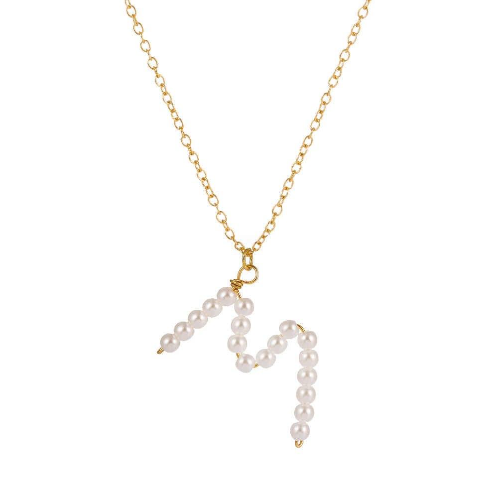 Модный золотого цвета 26 Алфавит буквы из кристаллов Камень кулон ожерелье CZ начальное название Шарм женщин ювелирных аксессуаров