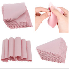 50Pcs/lot Glasses Cloth Polishing Cloth Silver Ornaments Cloth Wipe Silver Jewelry Cleaning Cloth Useful Jewelry Tools Hot Sale