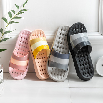 Dropship Home Household Slipper EVA Soft Anti-slip Slipper Flip Flops Summer Sandals Men Loafer Slides Bathroom Slippers image