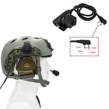 Tactical helmet electronic shooting headset COMTAC II noise reduction pickup headset and tactical PTT U94 PTT(kenwood) FG tactical comtac ii anti noise sound amplification electronic noise reduction shooting headphones and tactical ptt u94 ptt de