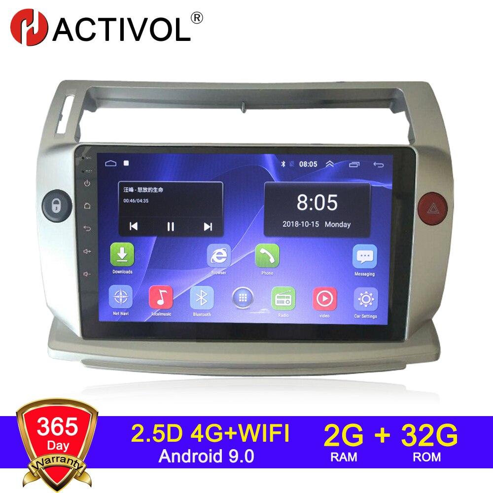 HACTIVOL 2G + 32G Android 9,1 автомобильное радио для Citroen C4 C-Triomphe C-Quatre 2004-2009 Автомобильный dvd плеер Автомобильный аксессуар 4G мультимедиа