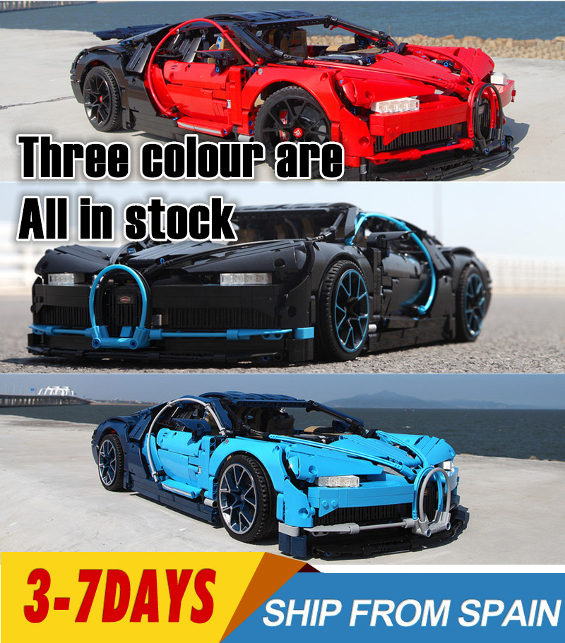 lepinblocks 20086 20087 <font><b>20001</b></font> Technic Race Car Building <font><b>Blocks</b></font> Bricks Compatible 42083 42056 Christmas Gift Bugatti car Chiron image