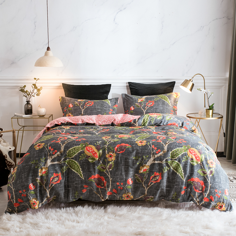 PHF Funda Nordico Home Textiles Cotton Duvet Cover With Pillowcases Luxury Sateen Jacquard Queen King Size Bedding Set