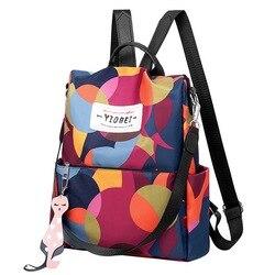 Litthing Водонепроницаемый женский рюкзак Оксфорд Многофункциональный рюкзак повседневный рюкзак с защитой от кражи рюкзак для девочек-подро...