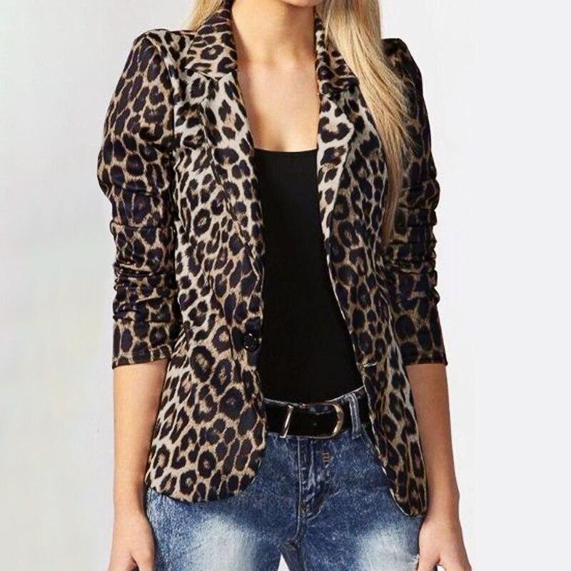 Womens Leopard Print Blazers