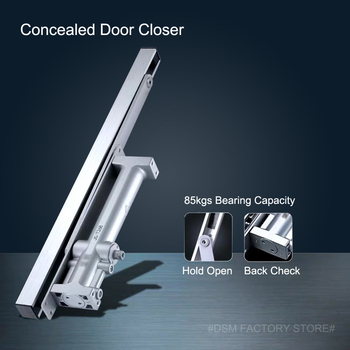Concealed Hydraulic Buffered Door Closer Automatic Closing Doors Device Available For 85Kgs Wooden/Metal Doors WM02306