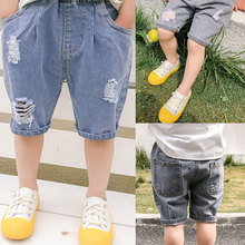 Jean Shorts 2-6years-Wear Boys Summer Design in Brand for Printing-Hole