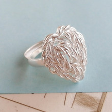 999 Sterling Silver Rings For Women Heart Ring Engagement Adjustable Luxury Jewelry Boho Handmade Miao Jewellery Ethnic