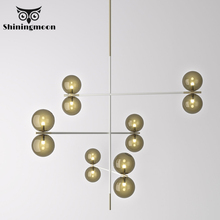 Nordic DNA Molecule Magic Bean Chandelier Postmodern Living Room Creative Art Chandelier Lighting Bedroom Bar Deco Hanging Lamp