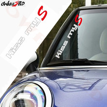 цена на Kiss MyS Vinyl Decal Car Front Windshield Sticker For Mini Cooper S F54 F55 F56 F60 R50 R52 R53 R55 R56 R57 R58 R59 R60 R61 JCW