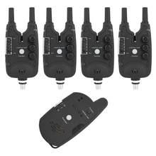 4 + 1 рыболовный сигнализатор поклевки ABS светодиодный электронный рыболовный сигнализатор поклевки для рыбы звуковой индикатор светодиодн...
