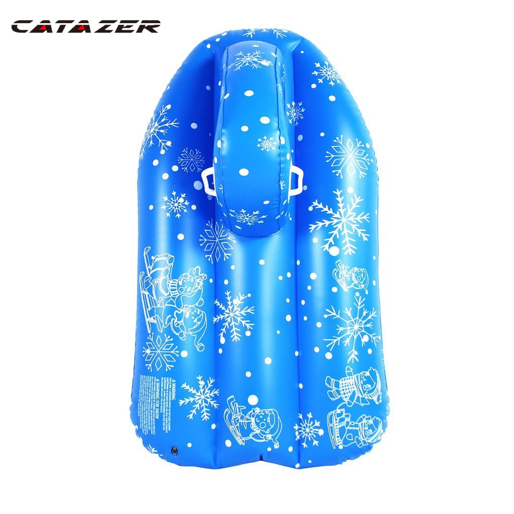 Inflatable Snow Tube Floated Skiing Board Winter Skating Sled Boat Ski Circle with Handle Winter Snow Toy Skiing Accessories