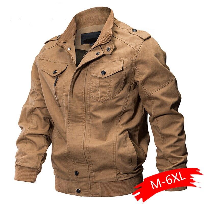 Military Jacket Men Winter Cotton Jacket Coat Army Men's Pilot Jacket Air Force Autumn Casual Cargo Jaqueta