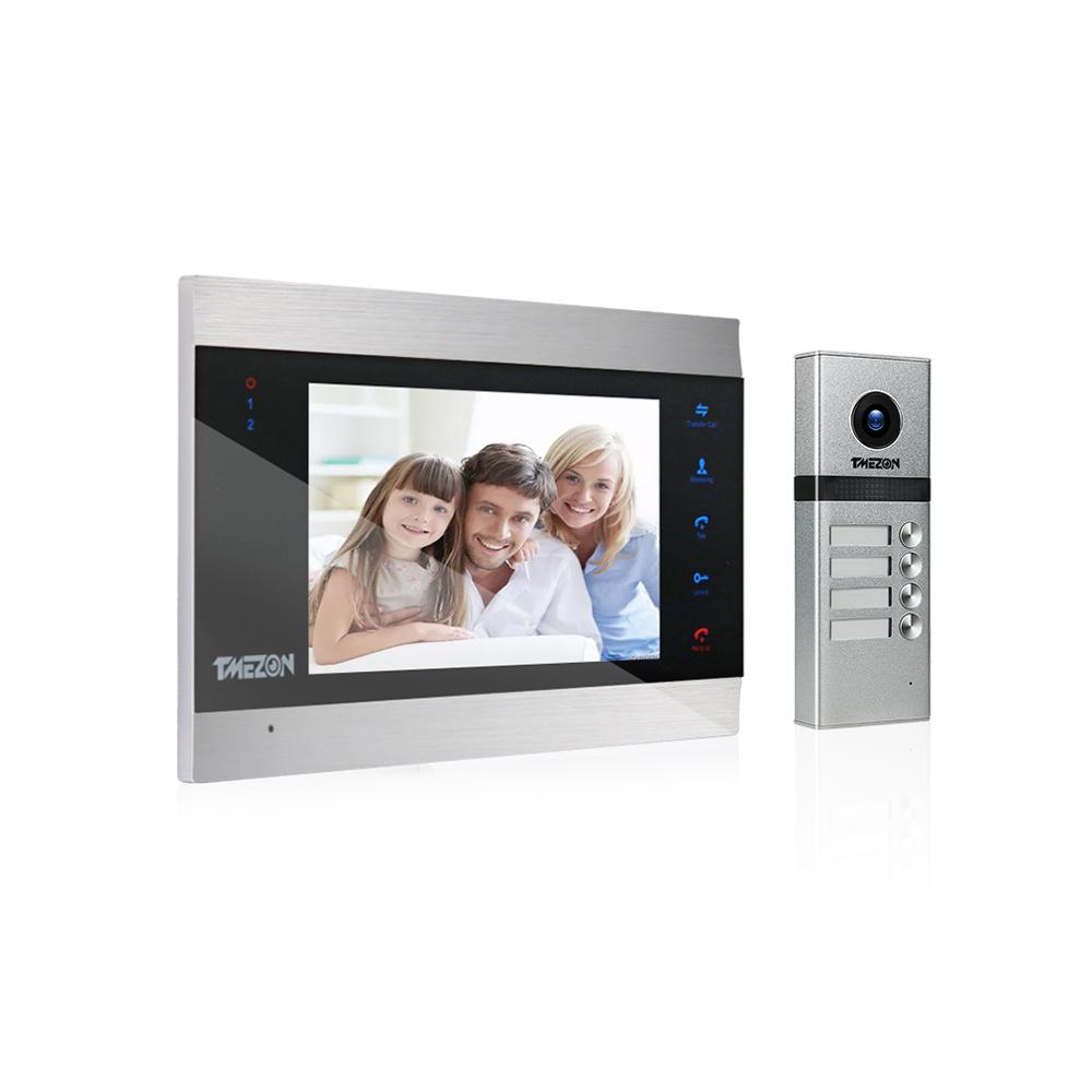 TMEZON Video Intercom Doorbell System, Touch Button ,Support Snapshot & Video Record,Design For Multiple Apartment
