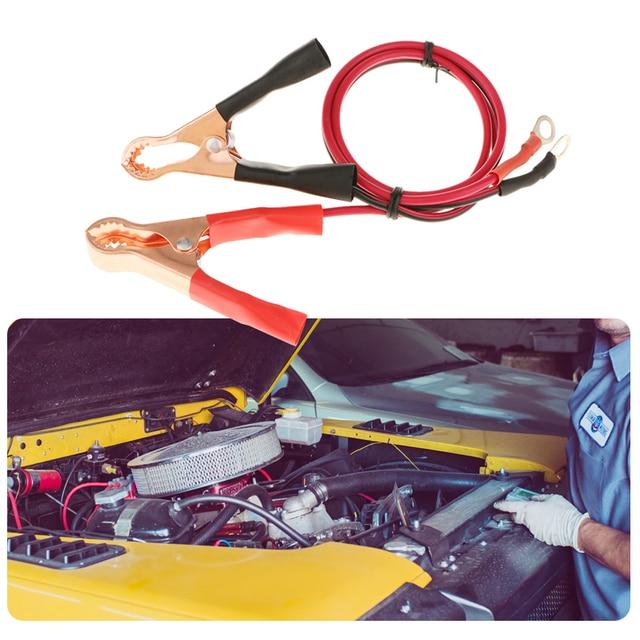1 쌍 50A 자동차 배터리 클립 및 케이블 악어 자동차 밴 배터리 테스트 리드 클립 악어 클립 전기 점퍼 와이어 케이블 클램프