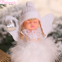 PATIMATE Christmas Angel Doll Christmas Tree Decoration Christmas Decorations For Home Merry 2019 Christmas Gift New Year 2020 patimate christmas angel doll christmas tree decoration christmas decorations for home merry 2019 christmas gift new year 2020