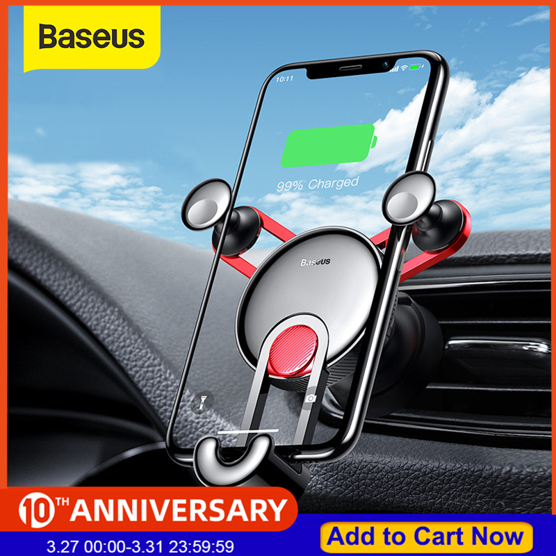 Baseus Gravity Car Holder For Phone In Car Air Vent Clip Mount Stand Universal Car Phone Holder For IPhone Samsung Phone Bracket