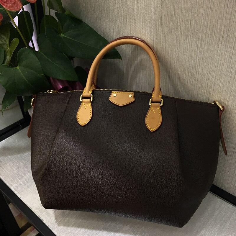 Top Quality Classic Luxury Design Women\'S Large Capacity Tote TURENE Handbag Ladies Genuine Leather Crossbody Bag Free Shipping