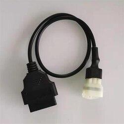 6 Pin OBDII OBD2 kabel diagnostyczny Adapter dla Kawasaki motocykl|Przewody  adaptery i gniazda|   -