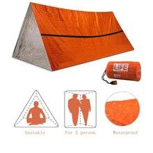ZK30 Открытый Простой Тепловой Палатка Аварийный Выживание Палатка Землетрясение Рельеф Изоляция Спальный Мешок Треугольник Алюминий Пленка Палатка