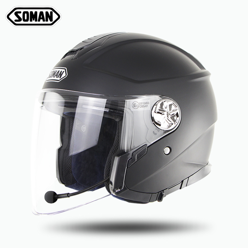 Soman, модный шлем для скутера, Bluetooth, с открытым лицом, Capacete, флип-ап, мотоциклетные шлемы, Casco Para Moto Hombre Capacete De Moto, cask