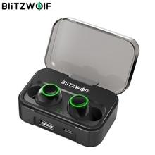 Blitzwolf BW FYE3真のワイヤレスbluetooth 5.0イヤホン6ミリメートルハイファイステレオ二国間で通話2600 2600mahのパワー銀行IPX6防水