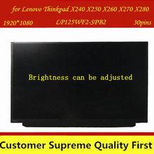 IPS LP125WF2-SPB2 LP125WF2 SPB2 (SP)(B2) подходит для Lenovo Thinkpad X240 X250 X260 X270 X280 FHD ЖК-экран с FRU 00HM745 00hn89