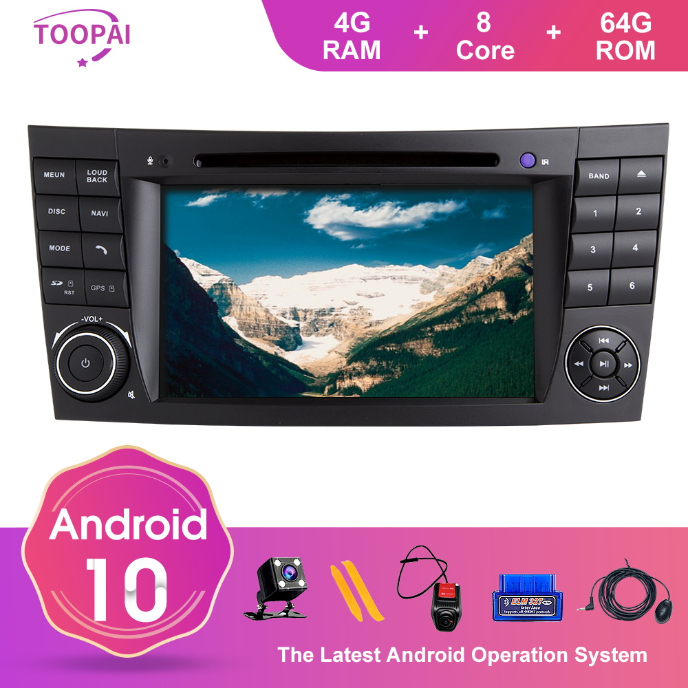 TOOPAI Android 10 For <font><b>Mercedes</b></font> Benz E-Class <font><b>W211</b></font> E300 CLK W209 CLS W219 2002-2009 Navigation <font><b>GPS</b></font> Multimedia Player Auto Radio image
