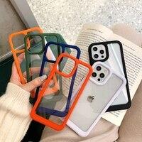 Funda de teléfono transparente de lujo para iPhone 11, 12, 13 Pro Max, XS, X, XR, 7, 8 plus, SE 2020 mini, Fundas protectoras a prueba de golpes