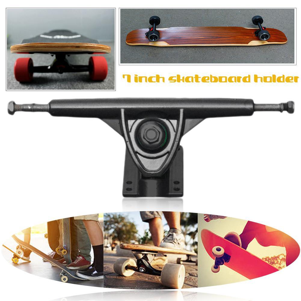 New 2pcs Generic 7 Inch Adult Skateboard Bracket Skateboard Truck Accessory For Mini Cruiser Skateboard Longboard