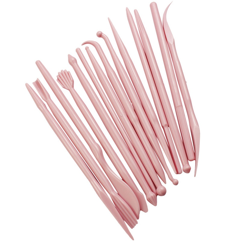 14Pcs Clay Modeling Tools Plastic Wax Carving Pottery Tools Carving Sculpture Shaper Polymer Clay Sculpting Set