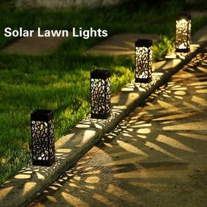 Solar Lawn Light Decoration Garden Hollow Lawn Lamp Outdoor Soalr Garden Lights Pathway Light Waterproof Garden Solar led Light(China)
