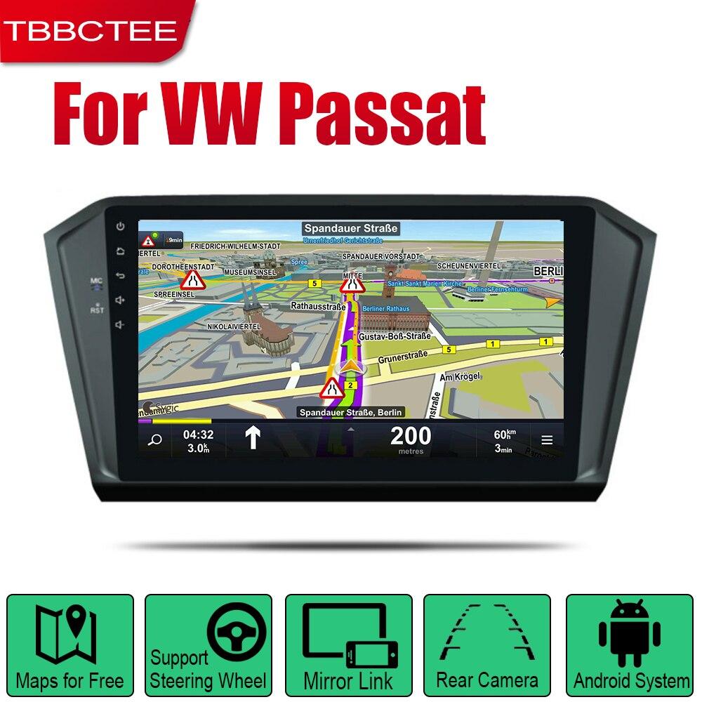 Autoradio TBBCTEE Android 2 Din pour Volkswagen VW Passat 2017 ~ 2019 lecteur multimédia de voiture système de Navigation GPS Radio stéréo