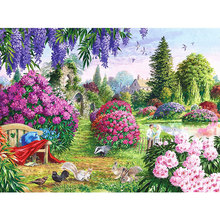 GATYZTORY 5D Diamond Embroidery Landscape Full Square Painting Home Decoration New Arrival Mosaic Handmade Gift gatyztory 5d full square diamond painting 5d halloween embroidery house home decoration mosaic handmade gift