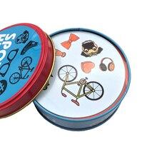 Игровые товары с карточками в металлической коробке, английская версия для семейных мероприятий, вечерние настольные игры