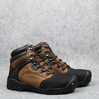 Men outdoor hiking boots mens cowhide leather steel toe waterproof hunting trekking Welding shoes working boots PLUS SIZE