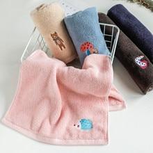1 Pc 34x75cm 100% Cotton Embroidery Cartoon Animal Thick Bathroom Children Hand Face Towel