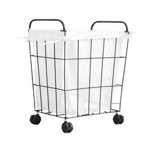 Fabric hamper Nordic wrought iron toy storage basket large laundry basket home storage bucket simple dirty clothes(China)