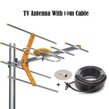 Antena TV Digital HDTV de 1500 millas para exteriores hengshanlao con Cable para plato de señal satélite DVBT2 ISDBT ATSC de alta ganancia