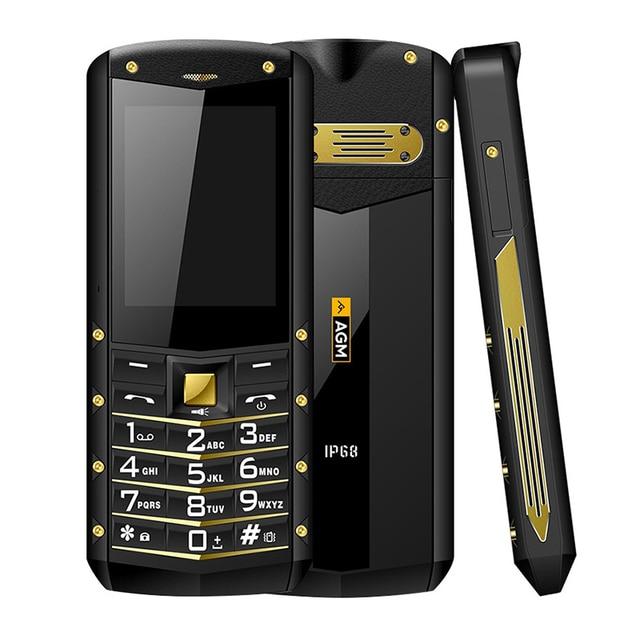 Original AGM M2 Russian keyboard IP68 Waterproof Shockproof rugged mobile phone Dual SIM FM flashlight 1970mAh cellphone
