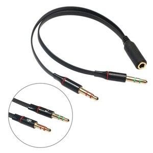 Разъем микрофон гарнитура аудиокабель 3,5 мм Женский до 2 штекер наушников микрофон Aux Удлинительный кабель для телефона компьютера