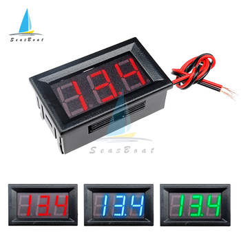 DC 4.5V to 30V Digital Voltmeter Voltage Panel Meter Red/Blue/Green For 6V 12V Electromobile Motorcycle Car image