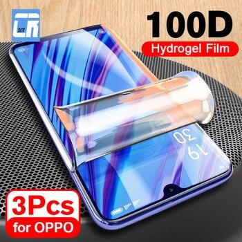 Перейти на Алиэкспресс и купить Мягкая Гидрогелевая Защитная пленка для OPPO Reno Z 2 A5 A3S A83 F5 F7 Защитная пленка для экрана для OPPO Realme 3 Pro не стекло