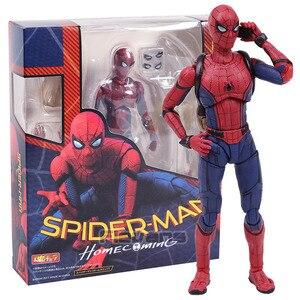 SHF Spider Man Ritorno A Casa Il Spiderman PVC Action Figure Da Collezione Model Toy(China)