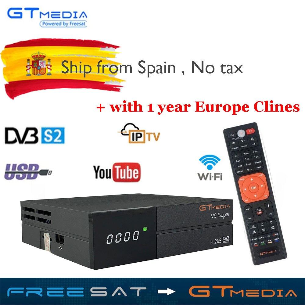 Neue GTmedia V9 Super Satellite Empfänger Freesat V9 Super Aktualisiert GTmedia V8 Nova V8 Super mit CCcam Cline für 1 jahr Europa