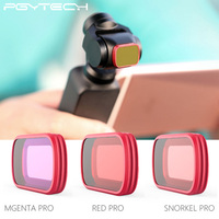 PGYTECH 3 IN 1 OSMO POCKET Scuba Snorkeling Filter Diving Lens Filter Red Camera Filter for DJI Osmo Pocket Accessories